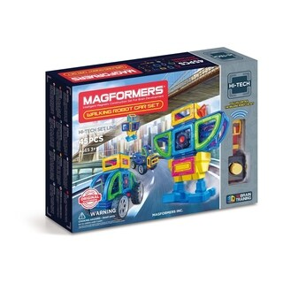 Magformers Walking Robot Car 45 Piece Magnetic Construction Set