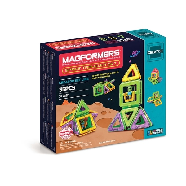 Magformers Space Traveler 35 Piece Magnetic Construction Set