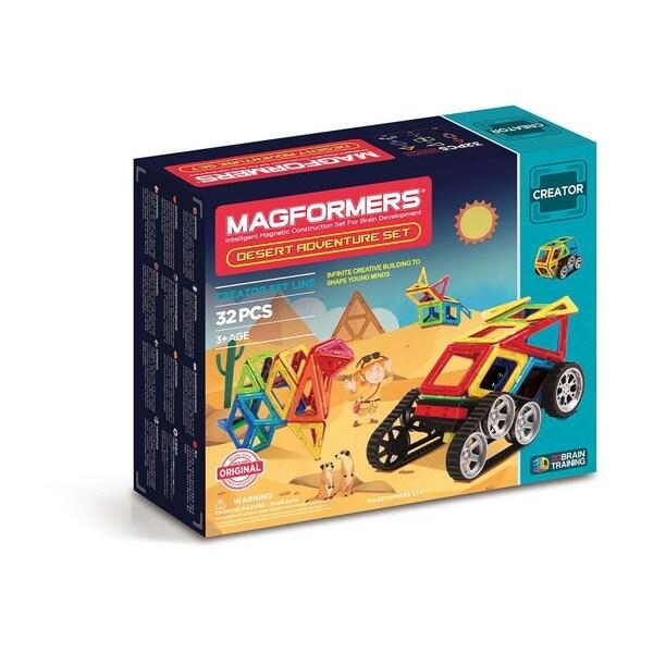 Magformers Adventure Desert 32 Piece Magnetic Construction Set