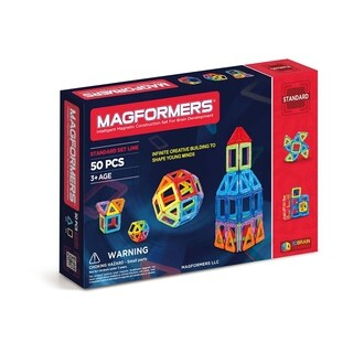 Magformers 50 Piece Magnetic Construction Set