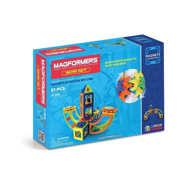 Magformers Magnets in Motion 61 Piece OPAQUE Gear Set