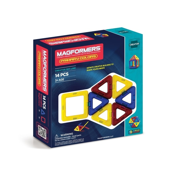 Magformers Primary Color 14 Piece Magnetic Construction Set