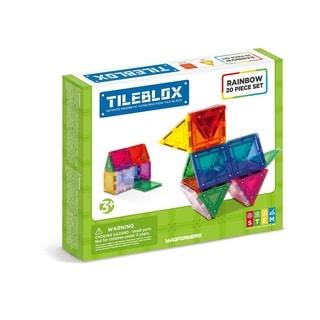 Magformers TILEBLOX Rainbow 20 Piece Magnetic Construction Set