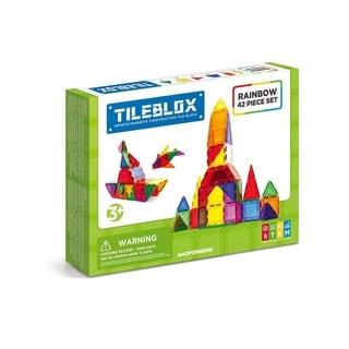 Magformers TILEBLOX Rainbow 42 Piece Magnetic Construction Set