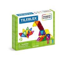 Magformers TILEBLOX Rainbow 60 Piece Magnetic Construction Set