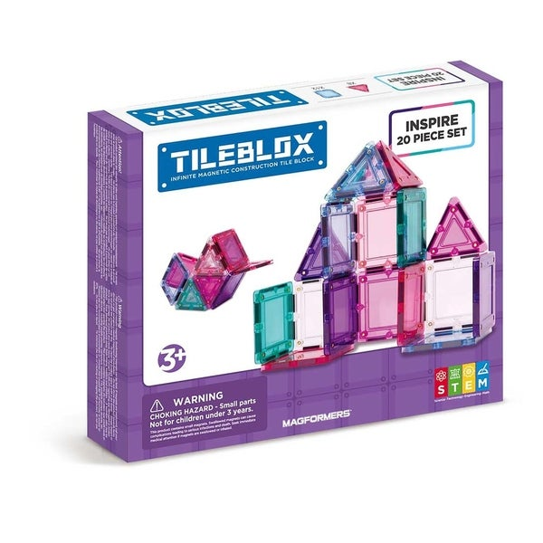 Magformers TILEBLOX Inspire 20 Piece Magnetic Construction Set