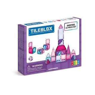 Magformers TILEBLOX Inspire 42 Piece Magnetic Construction Set