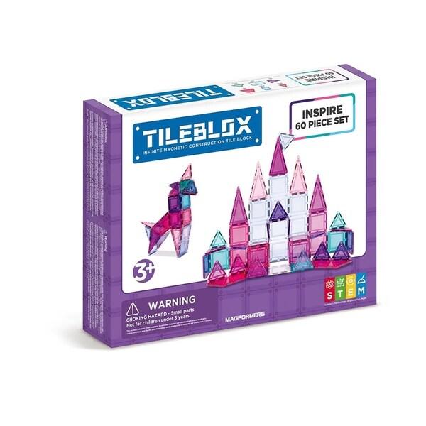 Magformers TILEBLOX Inspire 60 Piece Magnetic Construction Set