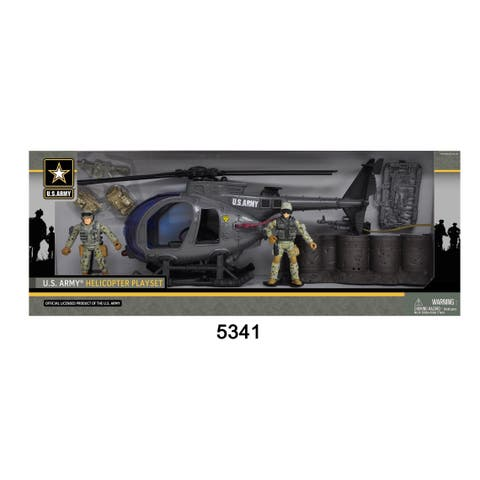 U.S. Army Helicopter Playset w/ 2 Soldier Figures