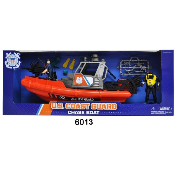 U.S. Coast Guard Rescue Boat w/ Figures