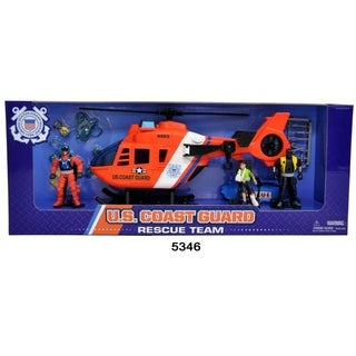 U.S. Coast Guard Helicopter Figure Playset