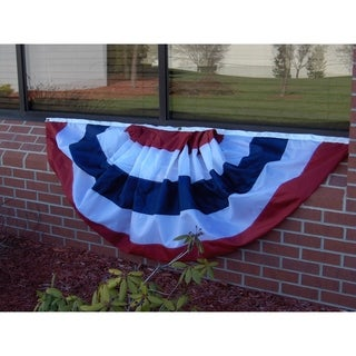 Patriotic 4x8 foot 5-Stripe Pleated Fan No Stars