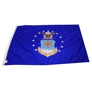 Official US Air Force nylon flag, 3 foot x 5 foot with grommets,