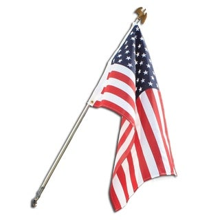 American 2 foot x 3 foot Polycotton Flag Set