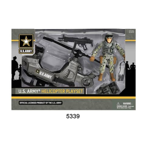 U.S. Army Figure Playset w/ Helicopter