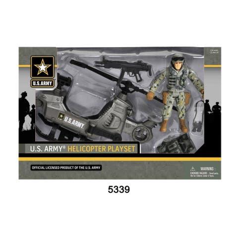 U.S. Army Figure Playset w/ Helicopter