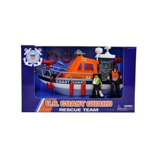 U.S. Coast Guard Figure Rescue Boat Playset