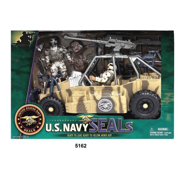 U.S. Navy Seals Figure Playset w/ Urban Patrol Vehicle