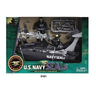 U.S. Navy Seals Figure Playset w/ Speedboat