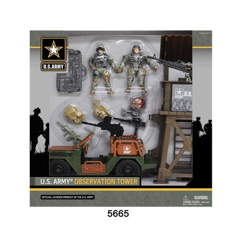 U.S. Army Observation Tower Playset w/ Figures