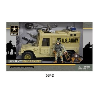 U.S. Army Figure Playset w/ Vehicle