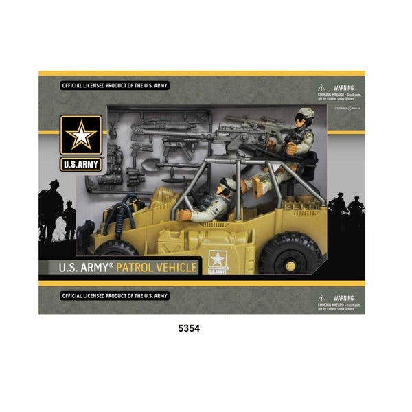 U.S. Army Desert Figure Playset w/ Patrol Vehicle