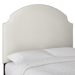 Custom Textured High Profile Arched Radius Upholstered Headboard