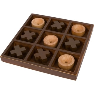 """10"""" Wooden Tic Tac Toe Desk Top Table Décor Game by Trademark Innovations"""
