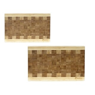EarthChef 2pc Bamboo Chop block
