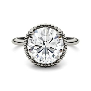 Charles & Colvard 14k White Gold 3 3/5ct DEW Forever One Colorless Moissanite Solitaire Ring
