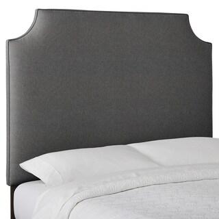Humble and Haute Custom Textured High-Profile Radius-Corner Upholstered Headboard