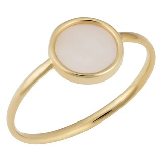 Fremada Italian 14k Yellow Gold Mother Of Pearl Ring