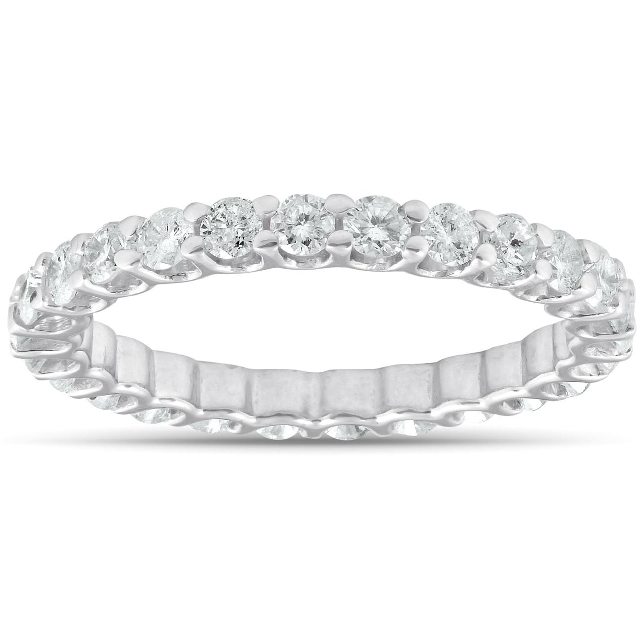 14k White Gold 2 Ct Tdw Diamond Eternity Ring Womens Wedding Band