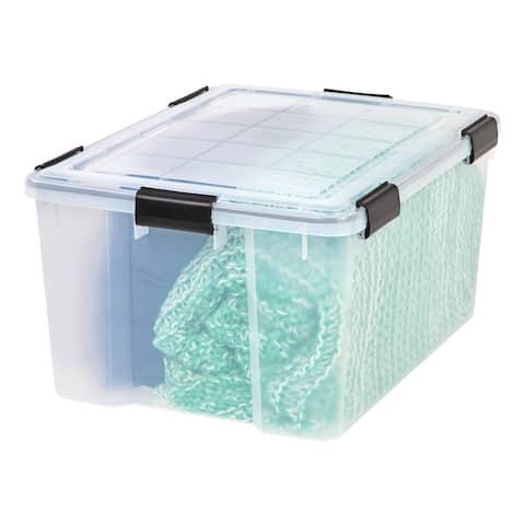 IRIS 62 qt. Weathertight Plastic Storage Bin (Pack of 4) - 62 qt