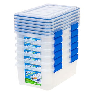 Ziploc WeatherShield 16 Qt. Plastic Storage Bin (Pack Of 6)