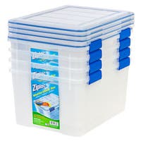 Ziploc WeatherShield Clear 44 qt. Storage Boxes (Set of 4)