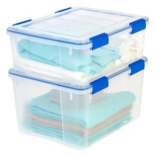 Ziploc WeatherShield 26.5 and 44 qt. Plastic Storage Bin (Pack of 4)