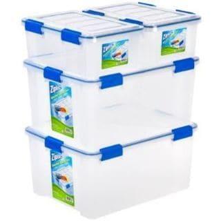 Shop Ziploc Weathershield 16 And 60 Qt Plastic Storage
