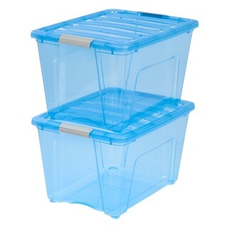 IRIS 54 qt. Stack & Pull Plastic Storage Bin (Pack of 6)