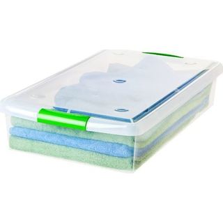 IRIS 40 qt. Store and Slide Plastic Storage Box (Pack of 6)