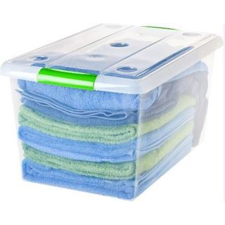 IRIS 61 qt. Store and Slide Plastic Storage Box (Pack of 6)
