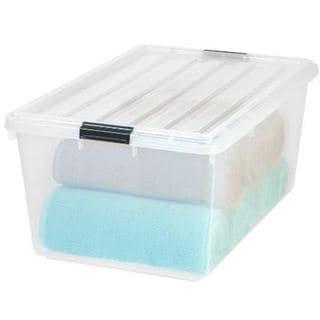 IRIS 68 qt. Buckle Down Plastic Storage Bin (Pack of 5) - 68 qt