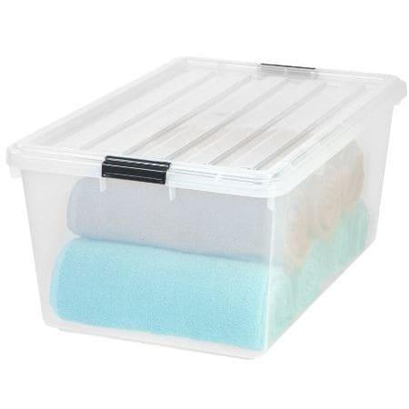 IRIS Clear 68-quart Buckle Down Storage Boxes (Set of 5) ...
