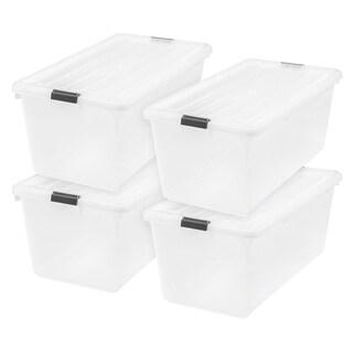 IRIS 91 qt. Buckle Down Plastic Storage Box (Pack of 4)