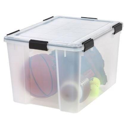 IRIS 74 Qt. Weathertight Plastic Storage Bin (Pack Of 4)