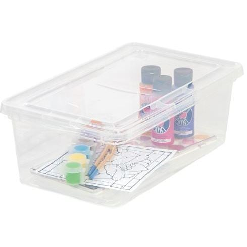 Clear Plastic Storage Bin (Case Of 18)