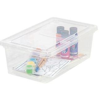IRIS 6 qt. Clear Plastic Storage Bin (Case of 18)