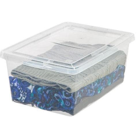 IRIS 17 qt. Clear Plastic Storage Bin (Case of 12)