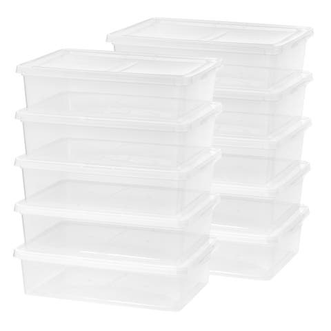 IRIS 28 qt. Clear Plastic Storage Bin (Pack of 10)