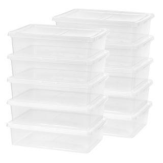 IRIS 28 qt. Clear Plastic Storage Bin (Pack of 10)